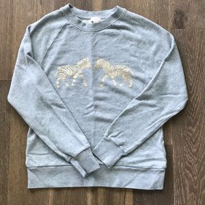 Jcrew Zebra Sweatshirt